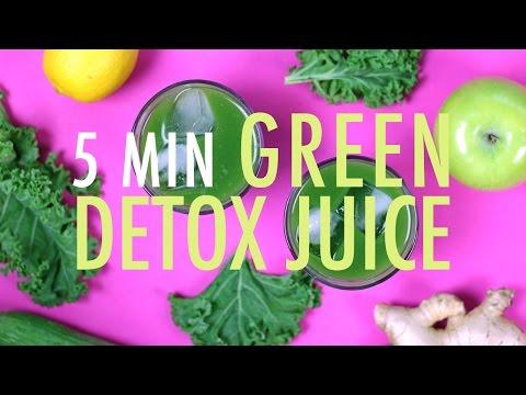 EASY 5 MIN GREEN DETOX JUICE | Healthy Detox Recipes