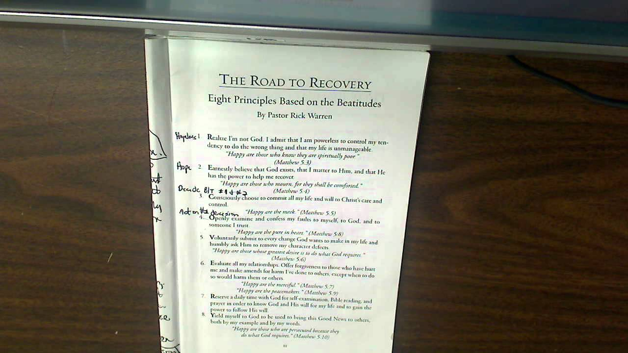 Celebrate Recovery- Bible Verses for CR\'s 8 Principles and 12 ...