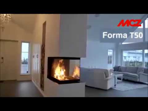 Каминная топка MCZ Forma T50. Видео 1