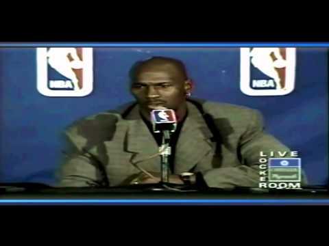 Michael Jordan - Chicago Bulls 70th Win Post-Game Interview