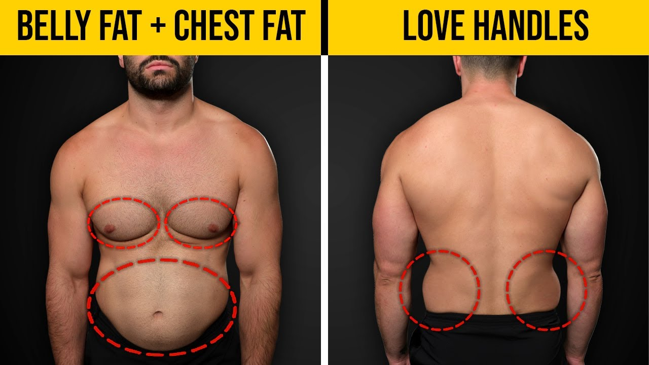 How to Lose Belly Fat, Love Handles, & Chest Fat FAST! (11 steps)