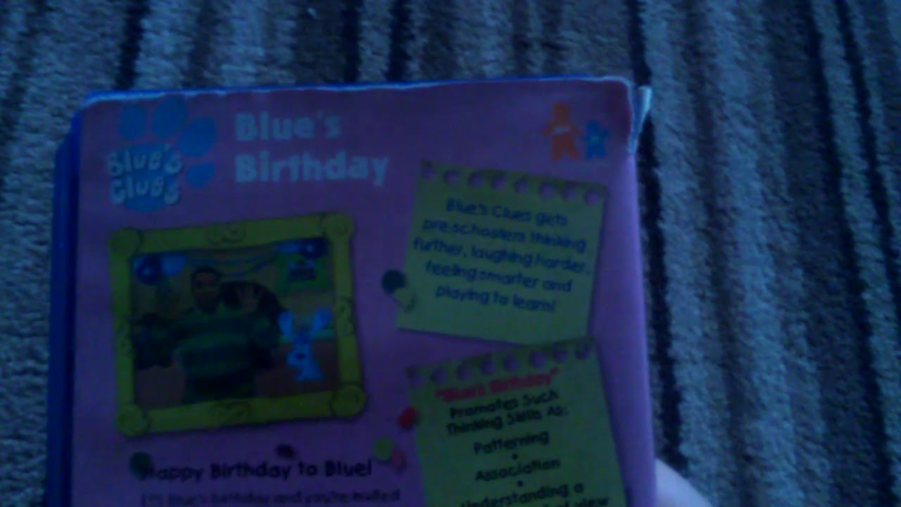 Look At My Blues Clues Blues Birthday Uk Vhs 2000 Youtube