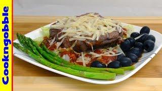 Steak Parmesan, with homemade Marinara Sauce