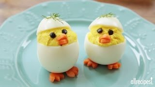 Easter Recipes - How To Make Easter Chick Deviled Eggs