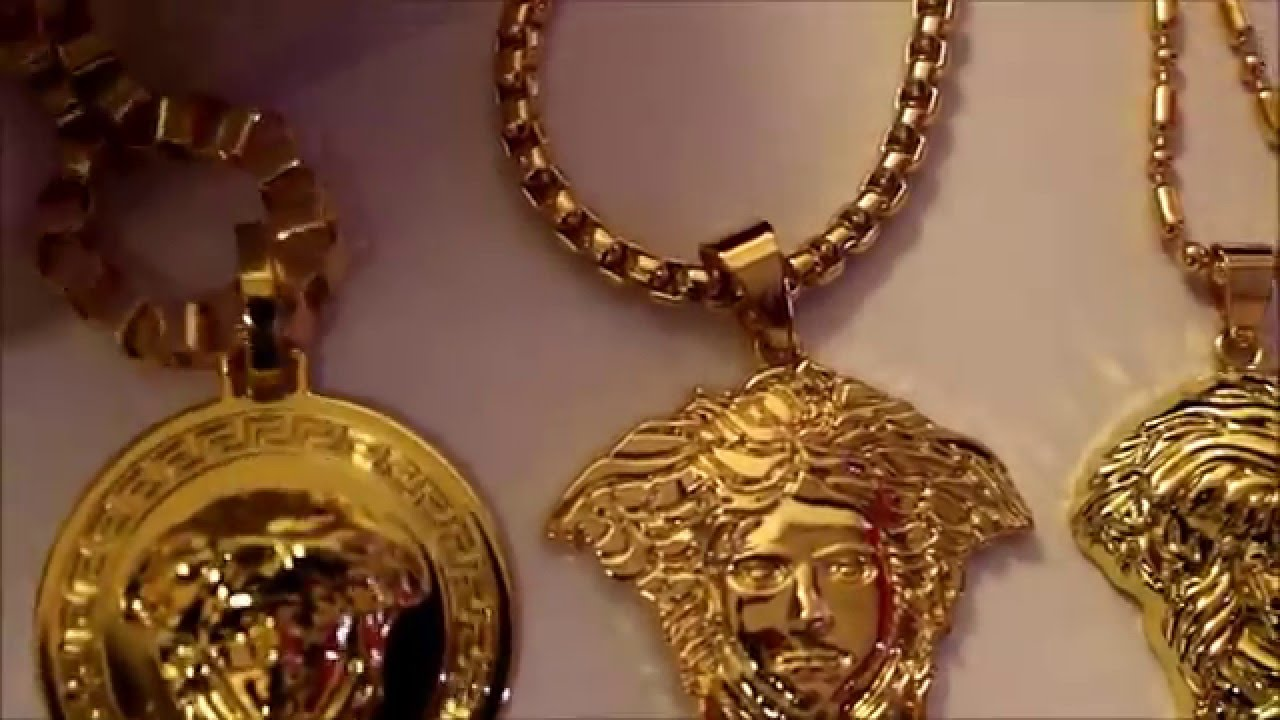 New 18k gold versace style chains youtube mozeypictures Image collections