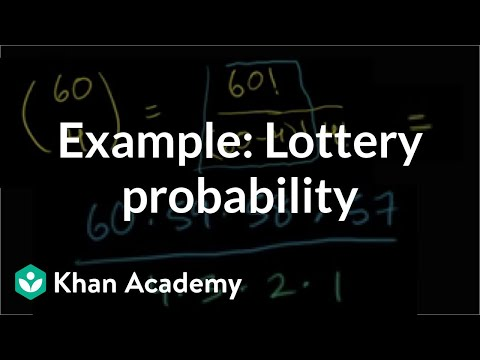 Example: Lottery Probability | Probability And Combinatorics | Precalculus | Khan Academy