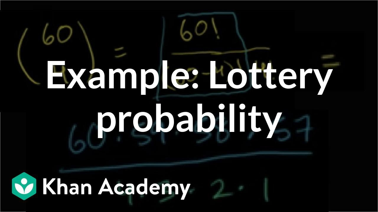 Example: Lottery probability (video) | Khan Academy