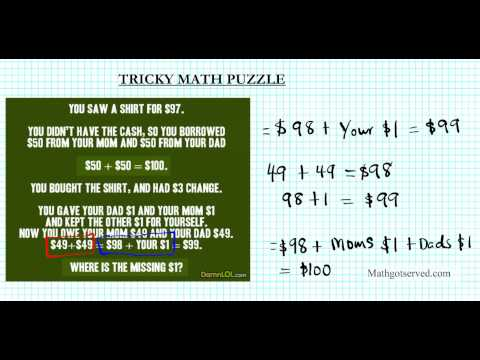 Math Puzzle You Saw A Shirt For $97