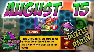 PvZ Heroes: Daily Challenge 08/15/2018 (August 15) – Puzzle Party [August 15th]