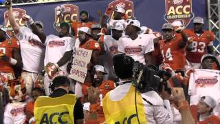 Tiger Rag plays while Clemson players cerebrate ACC Championship