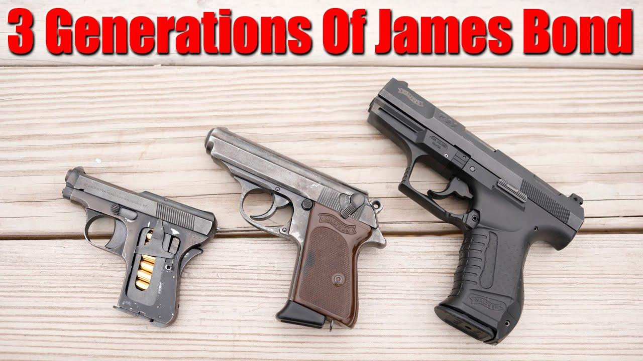 3 Generations Of James Bond Pistols