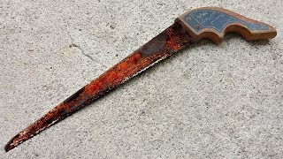 Restoration Hand Saw of old | Rusty Hand Saw Restoration - Perfect Restoration