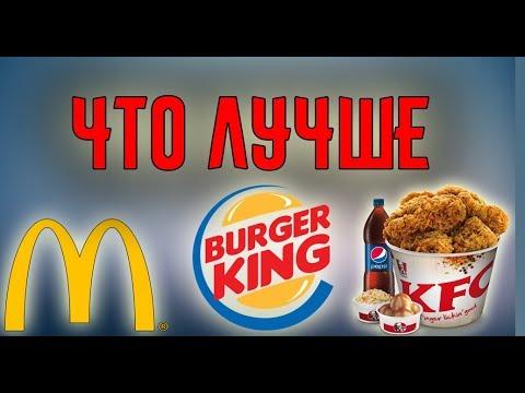 НОЧНОЙ ДНЕВНИК,ЧТО ЛУЧШЕ MACDONALD'S,KFC,BURGER KING