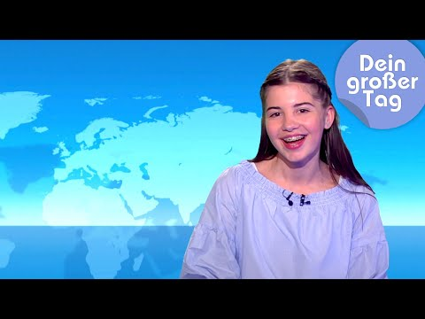 Tagesschau und Logo! - Kiara moderiert Nachrichten | Dein großer Tag | SWR Kindernetz