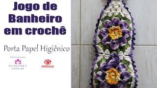 Porta Papel Higienico Crochê ( jogo de banheiro Paty) – Professora Simone