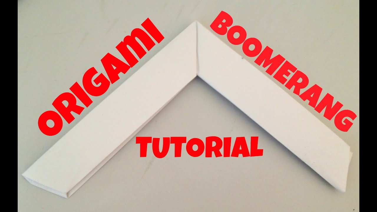 origami boomerang tutorial youtube