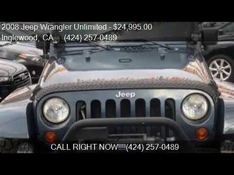 2008 jeep wrangler unlimited sahara 4x4 4dr suv for sale for Delux motors inglewood ca