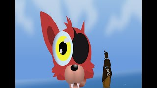 [cute FNAF world 2D comic animation] - Foxy the pirate. The Reason why Chica flies