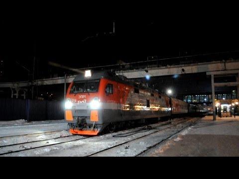 Электровоз ЭП1М-731 с поездом №198 Иркутск — Кисловодск