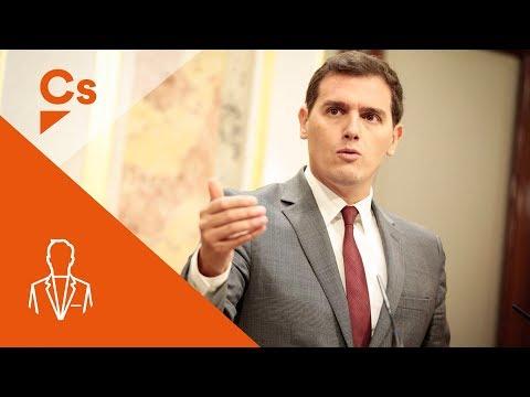 Rueda de Prensa de Albert Rivera en Congreso de los Diputados. 18Oct.