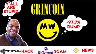 Grincoin Dumps 97.7%! Cryptopia Hack - Bitorrent SCAM ICO - Binance Launches Fiat to Crypto Exchange