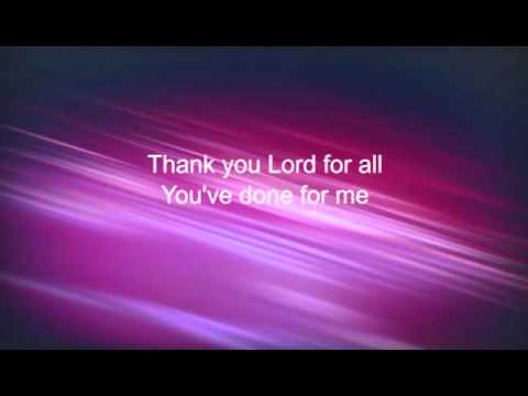 Thank You Lord for all You've done for me Instrumental LwBGV