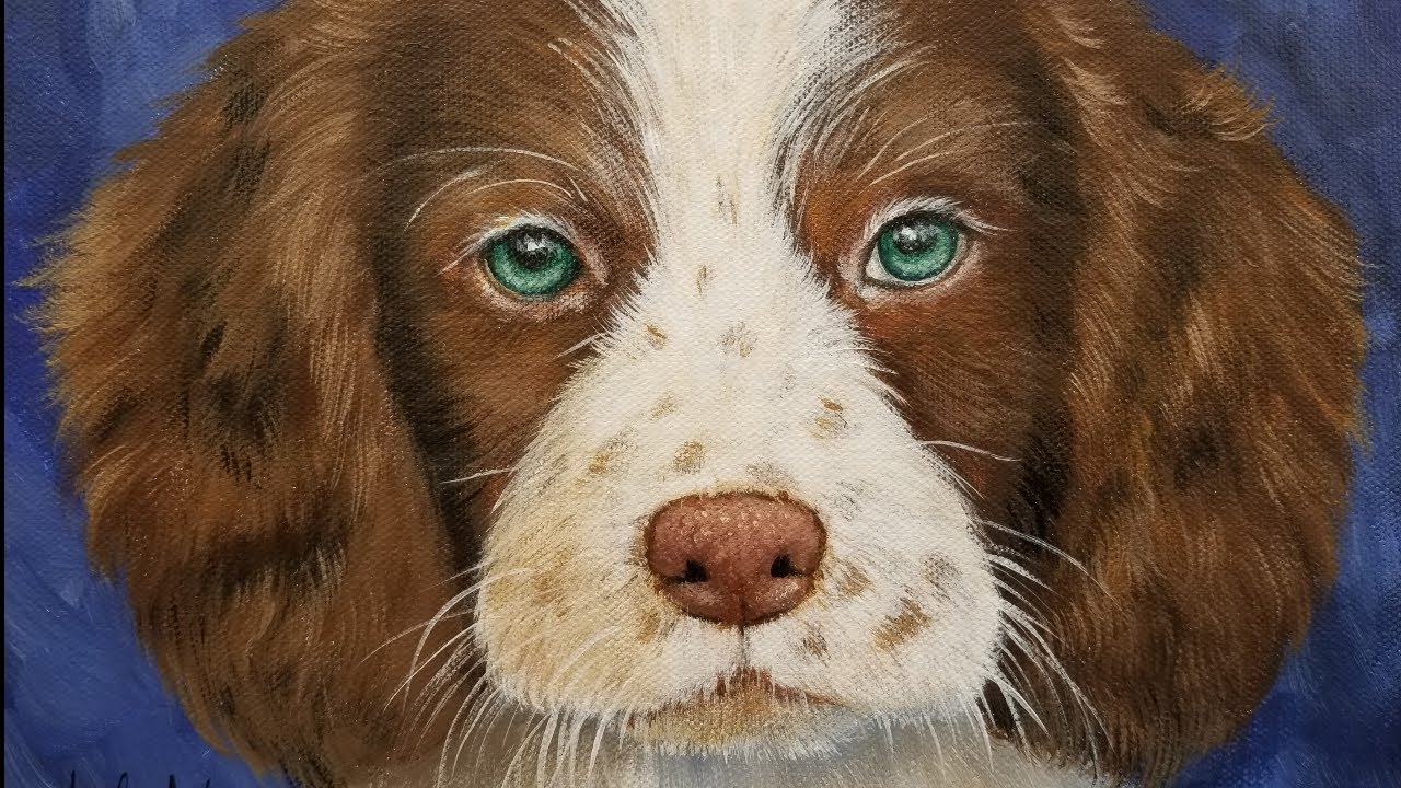 How to paint a dog acrylic painting tutorial live for Painting of your dog