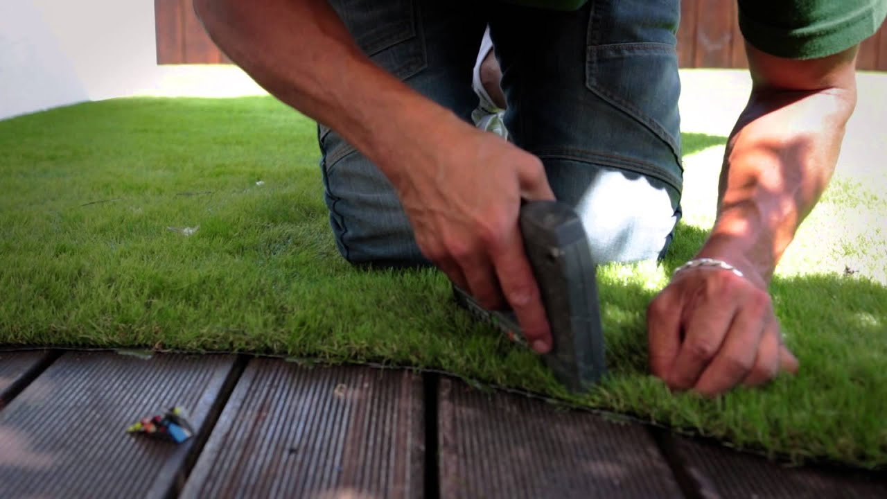 Easigrass Installation on Decking and Balconies  YouTube