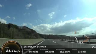 【車載】八戸道・福地PA→東北道・高舘PA【GPS表示】