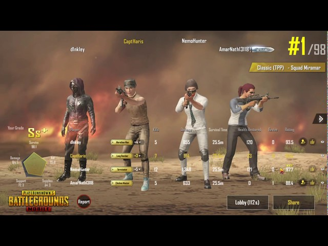 First Win In PUBG MOBILE ... CAPT HARIS