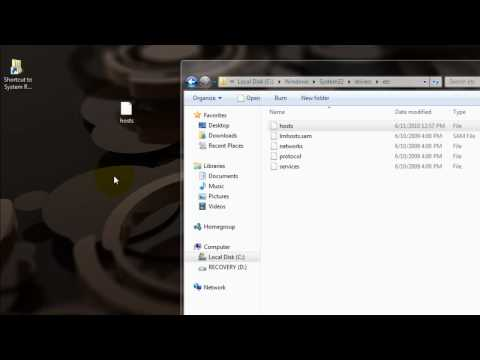 How To Edit The Hosts File In Win7