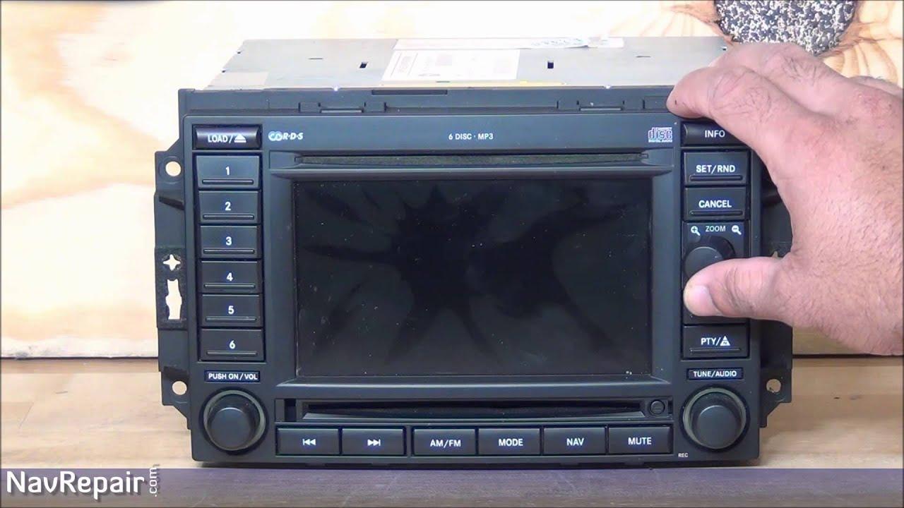 Chrysler Dodge Jeep Ram Rec Cam Non Gps Navigation Radio 2007 Compass Fuse Diagram Repair Service