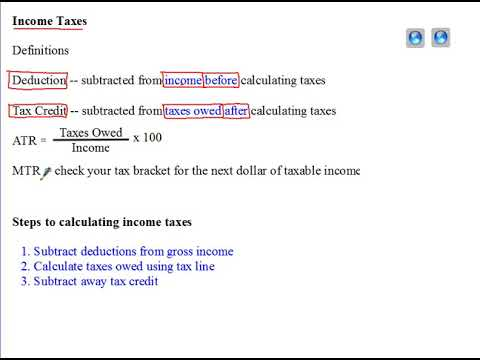 intro to income tax calculations youtube