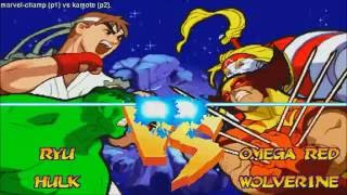 [HD] - Fightcade - Marvel Super Heroes Vs Street Fighter - Marvel-Champ(PHIL) Vs Kamote(JPN)