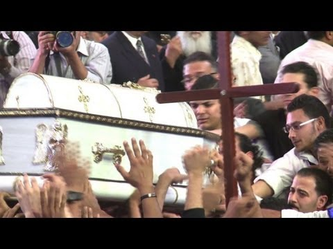 Funeral of Egypt Coptic Christians held in Cairo