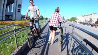 Велоспорт, Пермь, улица Ленина. Full HD 60fps
