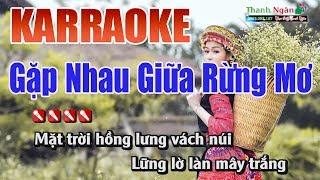Gặp Nhau Giữa Rừng Mơ Karaoke - Nhạc Sống Thanh Ngân