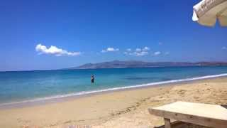 остров Наксос, пляж Агиос Прокопиос, июнь 2014 - (1)(Пляж, как и все на Наксосе - златопесчаный, расположен к югу от столицы, на машине - всего буквально 5 минут!..., 2014-06-25T07:26:02.000Z)