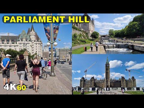 Downtown Ottawa Parliament Hill & Wellington Street Walk (Aug 2021)