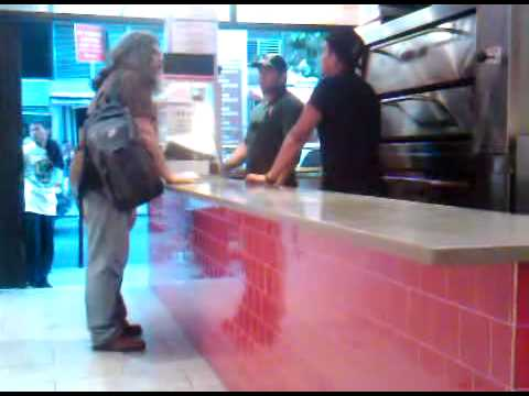 Guy spazing out @ 2 bros pizzeria