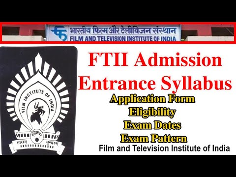 FTII Admission Entrance Syllabus 2018 । Acting Tips in Hindi