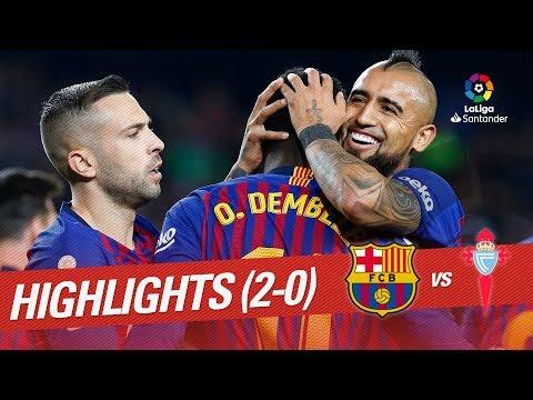 Highlights FC Barcelona vs RC Celta (2-0)