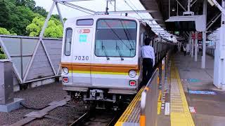 東京メトロ副都心線 7000系(7130・7030)車両  急行 元町中華街行 東急東横線多摩川駅