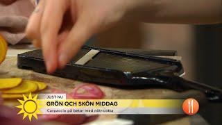 Therese lagar grön trerättesmiddag - Nyhetsmorgon (TV4)