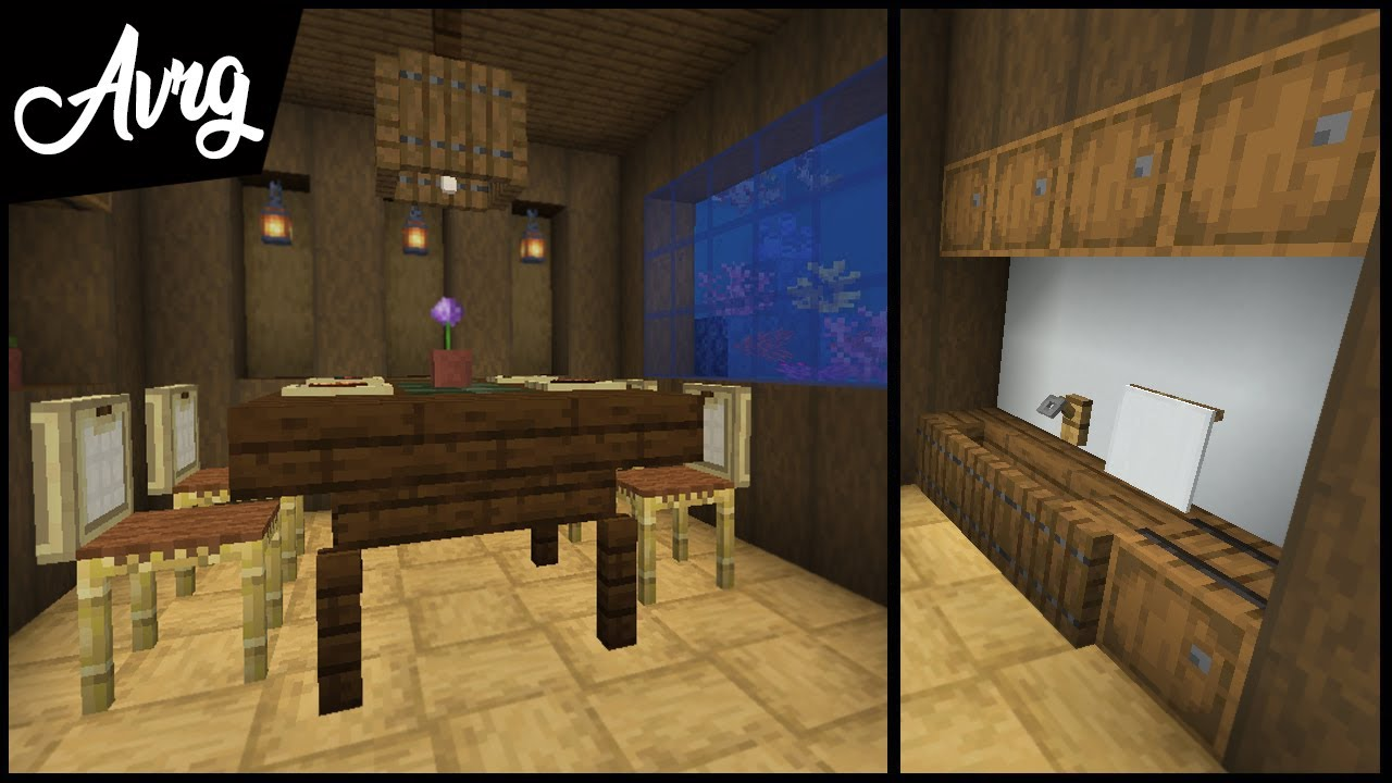 Minecraft 1 14 New Kitchen Building Tricks And Decorations Youtube