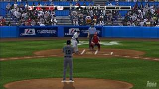 Major League Baseball 2K9 PlayStation 3 Gameplay - Damon Strike Out