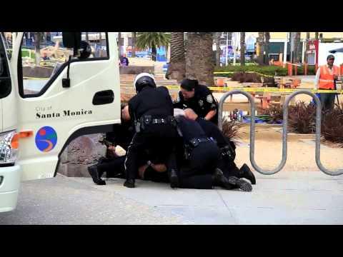 Santa Monica Cops Capture Guy