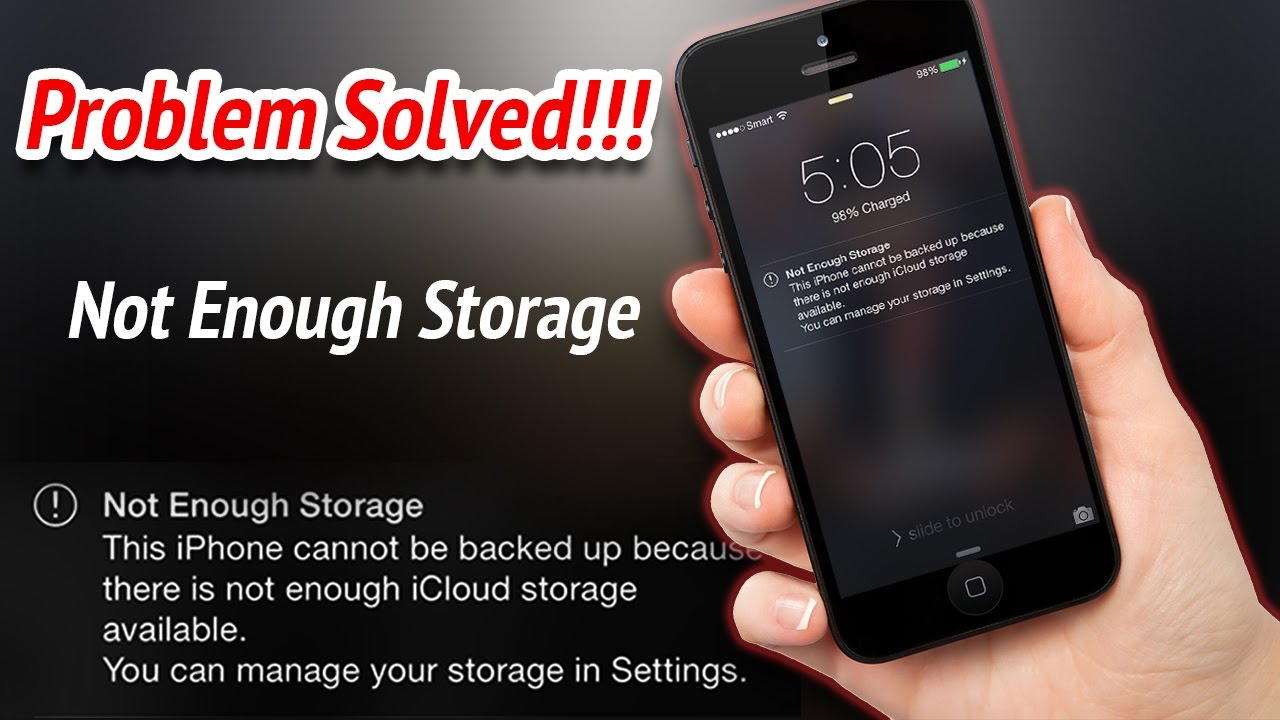 How To Fix Not Enough Storage On Icloud Ios Devices