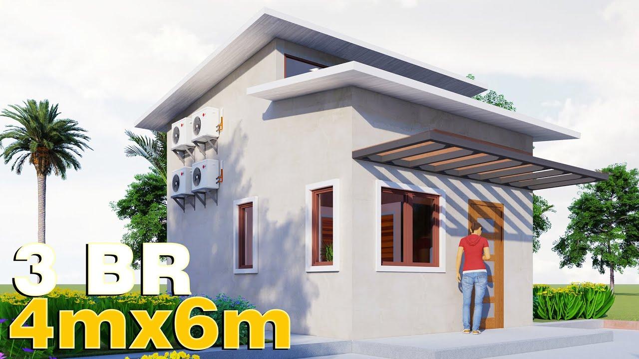 12 Small House Design W Loft 4x6 36 Sqm Full Plan Youtube Small House Design Plans Small House Design House Plan With Loft 4x6 . room plan