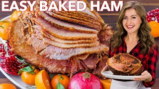 Baked Ham with Brown Sugar Apricot Honey Glaze